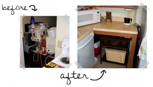 Before and After Feature kitchen detail